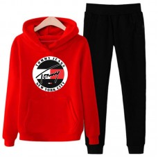 Tommy Jeans Red Tracksuit For Men's