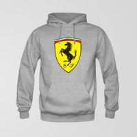 Ferrari Logo Grey hoodie For Men