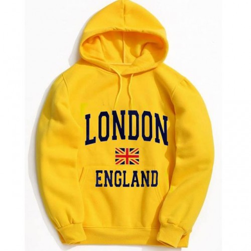 London Exported Quality Yellow Hoodie For Men's