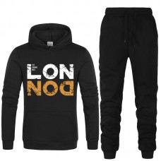 London Black Winter Tracksuit For Men's