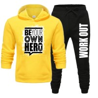 Be Your Own Hero Yellow Tracksuit For Men's