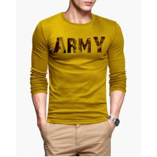 Army Full Sleeve Round Neck Printed T-Shirt