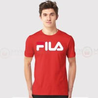 Fila Half Sleeves T-Shirt in Red