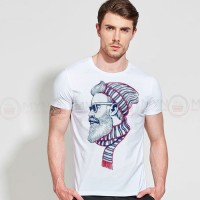 Muffler Man Half Sleeves T-shirt in White