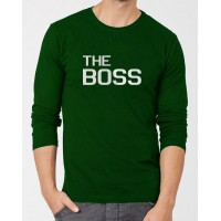 The Boss Green Full Sleeves Graphic T-Shirt