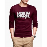 Linkin Park Maroon Full Sleeves Round Neck T-Shirt for Men