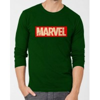 Marvel Dark Green Full Sleeves Round Neck T-Shirt