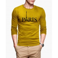 Paris Full Sleeves Round Neck T-Shirt for Men