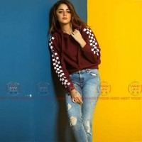 Maroon Stylish Hoodies For Women's