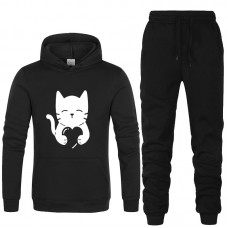 Love Cat Exported Quality Black Tracksuit For Women
