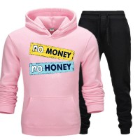 No Money No Honey Pink Tracksuit For Women