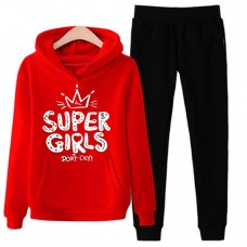 Super Girls Red Tracksuit For Women's