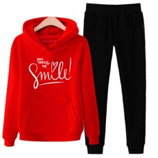 You Make me Smile Exported Quality Red Tracksuit