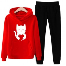 Love Cat Red Exported Quality Tracksuit For Women