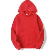 Plain Red Pullover Hoodie