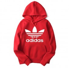 Adidas Premium Quality Red Hoodie For Women's