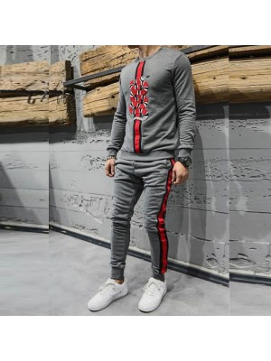 Grey Stylish Tracksuit For Men's